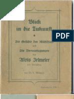 Conrad Adlmaier - Blick in Die Zukunft_Voraussagungen Des Alois Irlmaier 1. Auflage Von 1950