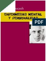 Foucault Michel - Enfermedad Mental y Personalidad