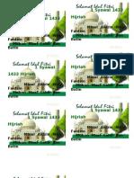 1 Syawal 1433 Hijriah