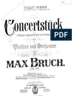 Konzertstuck for Violin and Orchestra Op