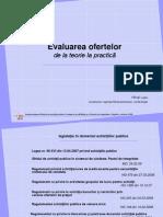 Implem Ghidului Achizi Pact Integrit Mai Iunie 2009 EVALUAREA Ofertelor