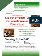 Heimatmuseum Obermillstatt Tag der offenen Tür 8. Juni 2013