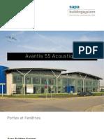 Avantis 55 solution acoustique - Sapa Building System