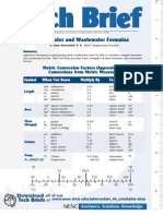 Water and Wastewater Formulas