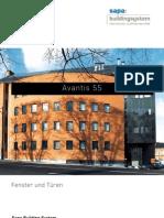 Avantis 55 Aluminium Fenster und Türen - Sapa Building System