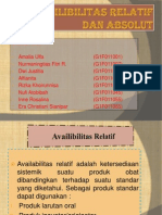 Availibilitas Relatif Dan Absolut