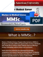 Masters in Medical Science - MMSc