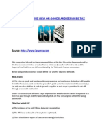 A Comparative View on Goods and Services Tax India - Lawcrux Advisors Pvt. Ltd.