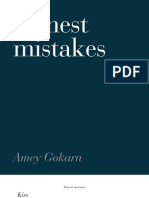 Honest Mistakes Issue 1