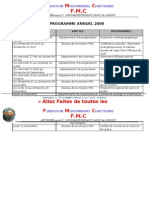 FMC Programme Annuel FMC 2009