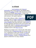 Introduction of Bank