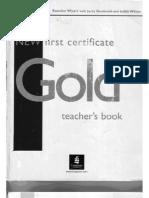 New Gold First Certificate - Teachers Book