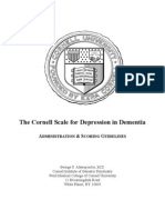 The Cornell Scale for Depression in Dementia