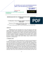 Biodegradation of Anthraquinone Based Compounds Review