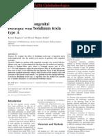 Treatment of Congenital Esotropia With Botulinum Toxin Type A