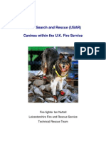 Canines Within the Fire and Rescue Service