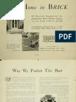 House Designs, Brick Supply Pty Ltd, 1935