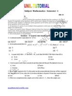 Class Ix Maths Sample Paper Jst-2011-12