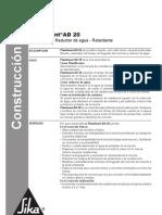 Plastiment AD 20 -Ficha Tecnica