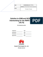 Solution to GSM and WCDMA Interworking for the RNPS GSM V0.75