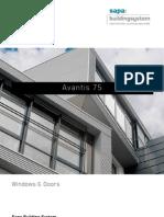 Avantis 75 super insulated windows and doors - Sapa Building System