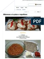 Milanesas a La Pizza o Napolitana - Taringa!