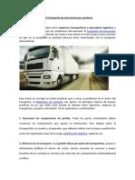 10 buenas prácticas en el transporte de mercancías por carretera
