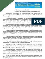 june06.2013_cThe House Adjourns Sine Die; Belmonte cites unity of purpose and dedication as gains towards public trust