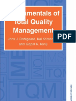 Fundamentals of Total Quality Management By Jens.J Dahlgaard, Kai Kristensen and Gopal K. Kanji