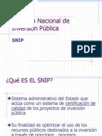SNIP Inversio Publica