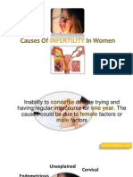 Causes of Inferlity in WomenCauses of Infertility in Women