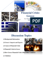 Financial Crisis of  Greece