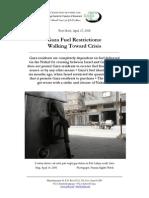 Gaza Fuel Restrictions