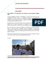 05-06-2013 Boletín 018 Con ustedes y con Pepe Elías Leal, haremos un gran equipo, Rogelio Ortiz