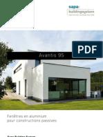 Avantis 95 - Fenêtres en aluminium pour constructions passives - Sapa Building System