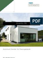 Avantis 95 - Aluminium Fenster für Passivgebäude - Sapa Building System