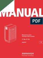 Inversor SUNWAYS PT30 33 Manual ES