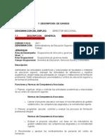 Modelo Ficha Descriptiva Cargos
