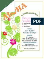 Luau Flyer 2013