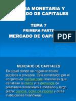 Tema 7, Mercado de Capitales. Teoria m.