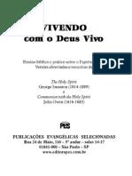 Livro - Vivendo Com o Deus Vivo - John Owen