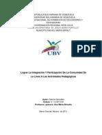 proyecto de integracion y participaciòn