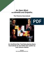 Lug Star Trek Rpg Netbook - An Open Mind - Mindmelds and Empaths - The Psionics Sourcebook