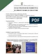 Master Politici Si Strategii de Marketing