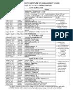 CUIM Academic Calendar Main Campus 2013 - 14