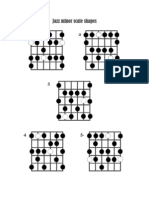 Jazz minor scale shapes