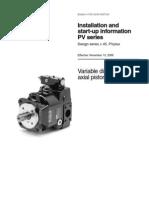 Installation & Start Up of Axial Piston Pump