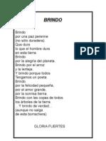BRINDO.  Gloria Fuertes