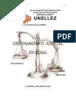 Trabajo - Ordenamiento Judicial en Roma