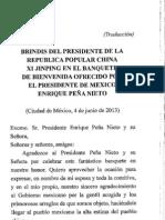 04-06-13 Mensaje de presidente de China